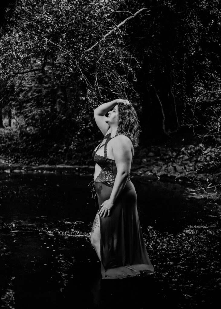 outdoor boudoir on location leicestershire